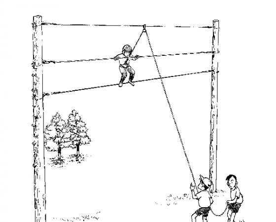 平行ロープ
